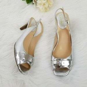 Cole Haan Nike Air Silver Slingback  Pumps  9.5